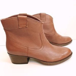 Brown leather Ankle Booties size 7.5